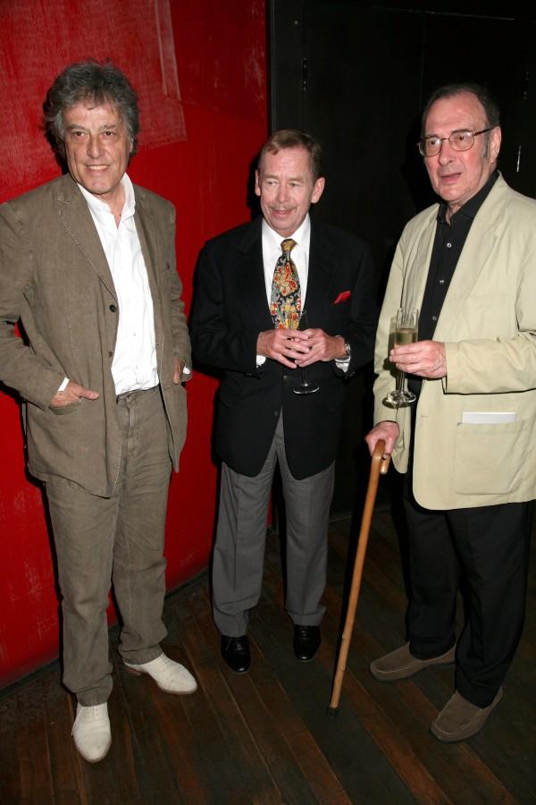 Tom Stoppard, Vaclav Havel, Harold Pinter