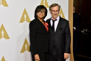 Mandatory Credit: Photo by Rob Latour/REX/Shutterstock (5584910gl) Cheryl Boone Isaacs and Steven Spielberg 88th Academy Awards Nominees Luncheon, Los Angeles, America - 08 Feb 2016