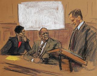 Bill Cosby feb 2 court drawing ap