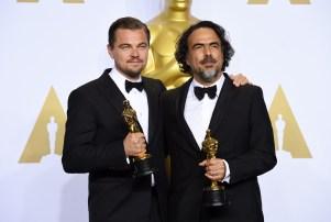 Leonardo DiCaprio Alejandro G. Inarritu Oscars 2016