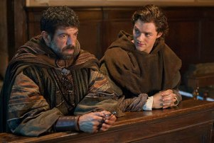 """Pierfrancesco Favino (L) and Lorenzo Richelmy (R) in a scene from Netflix's """"Marco Polo."""" Photo Credit: Phil Bray for Netflix."""