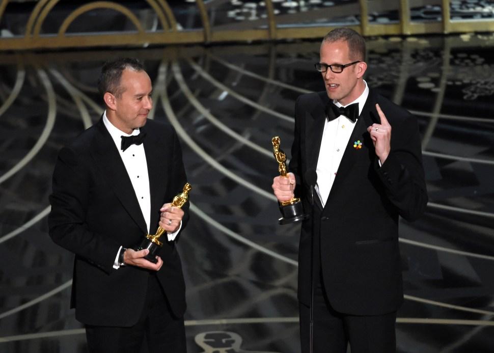 Inside Out Oscar Winner Pete Docter Jonas Rivera