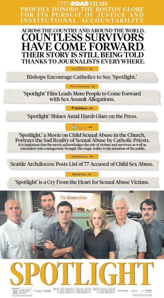 Spotlight Boston Globe Ad