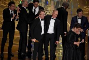 Spotlight Tom McCarthy Michael Keaton Oscars 2016