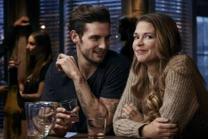 Nico Tortorella and Sutton Foster in Younger