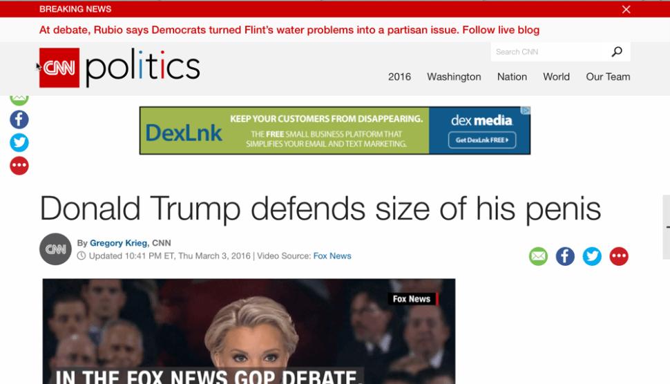 CNN Penis Headline