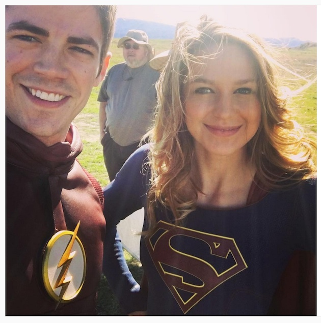 flash supergirl gustin selfie copy