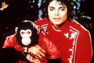 Michael Jackson and chimp Bubbles