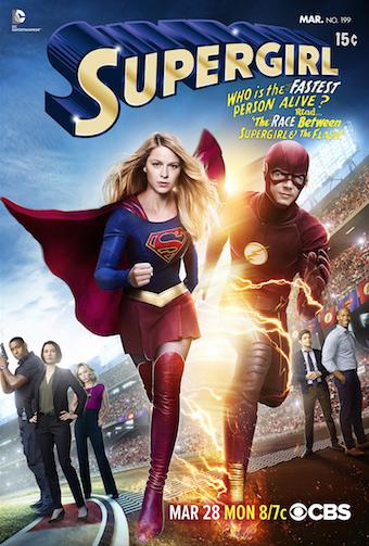 supergril flash crossover art