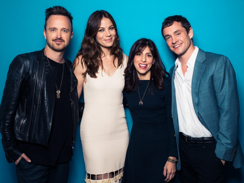 Aaron Paul, Michelle Monaghan, creator Jessica Goldberg and Hugh Dancy representing The Path at the Contenders Emmys.