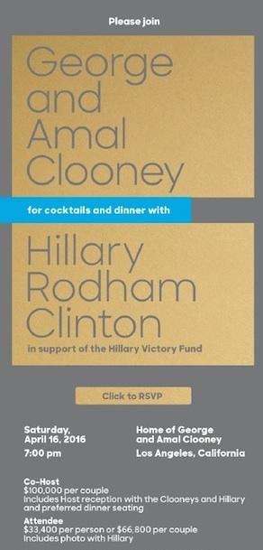 clinton clooney la invite copy
