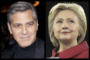 George Clooney Hillary Clinton