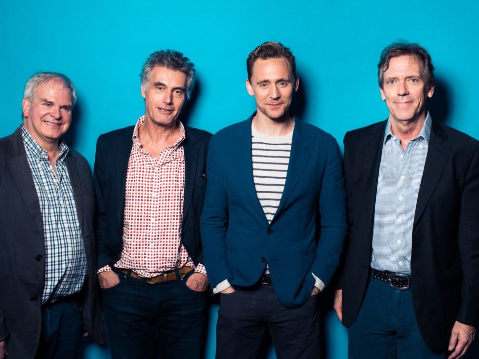 Simon Cornwell, Stephen Garrett, Tom Hiddleston, Hugh Laurie - The Night Manager