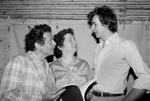 Angela Paton with Frank Langella, right, and Jerry Stiller in 1980.