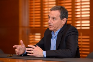 Bob Iger, chairman and chief executive officer of The Walt Disney Company, speaks to members of the media about bringing NFL football back to the Los Angeles area, Thursday, Dec. 10, 2015, in Burbank, Calif. (AP Photo/Mark J. Terrill)