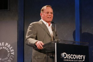 IMAGE DISTRIBUTED FOR DISCOVERY COMMUNICATIONS - David Zaslav, CEO Discovery Communications, speaks to guests at the Discovery Communications' 30th Anniversary Celebration at the Paley Center for Media on Wednesday, June 24, 2015 in New York. (Amy Sussman/AP Images for Discovery Communications)