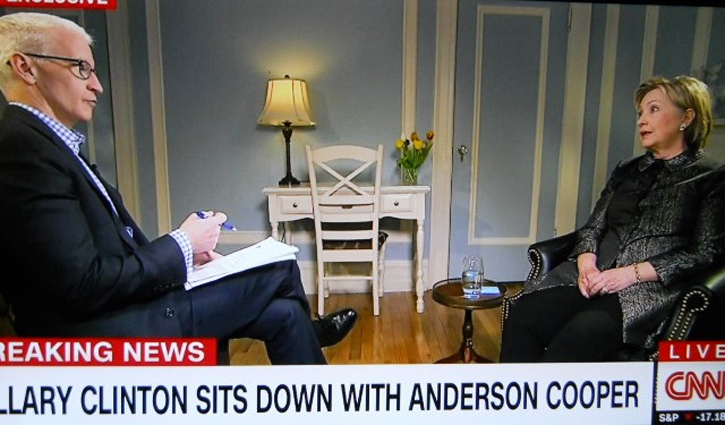 Hillary Clinton and Anderson Cooper 1
