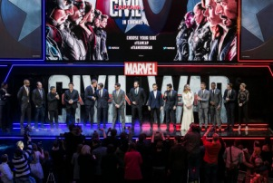 "London UK : Cast and crew attend the European Premiere Of Marvel's ""Captain America: Civil War"" in London on April 26th, 2016. (Credit : StingMedia for Disney)"