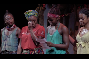 Lupita Nyong'o and the cast of Eclipsed