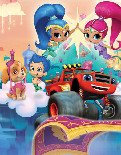 Blaze PAW PAtrol Shimmer and Shine