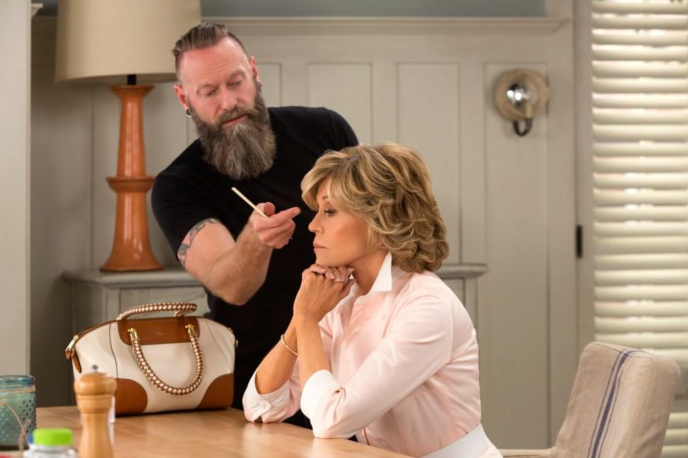 Jane Fonda gets styled.