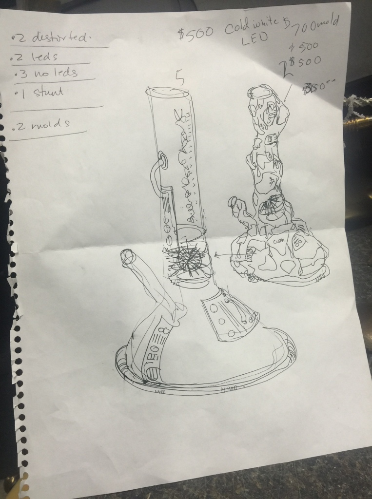 Kordan's design for the titular Bong in Comedy Central mini-series Time Traveling Bong.