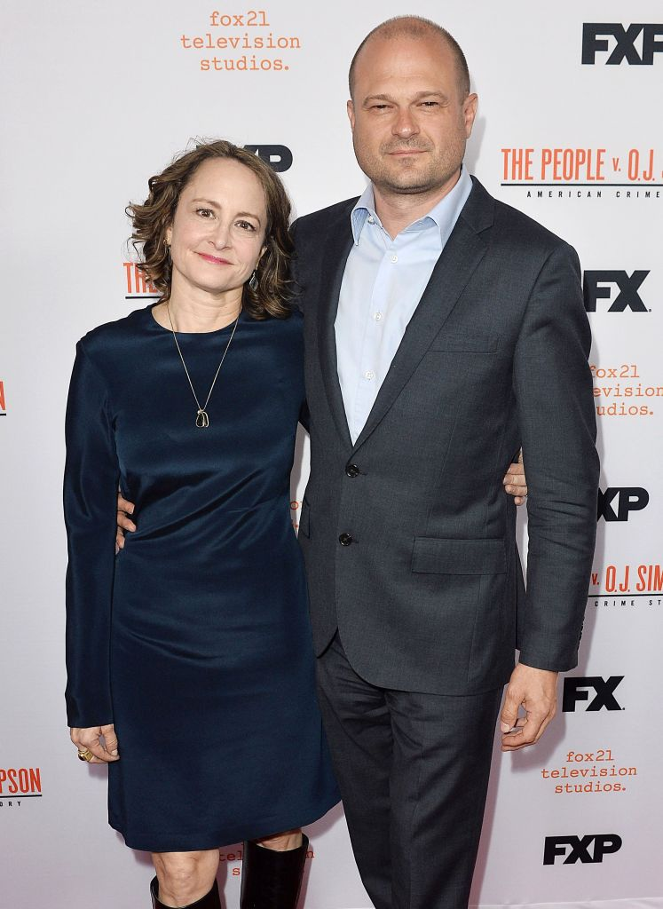 Jacobson and Simpson walk the red carpet at an OJ FYC event in April.