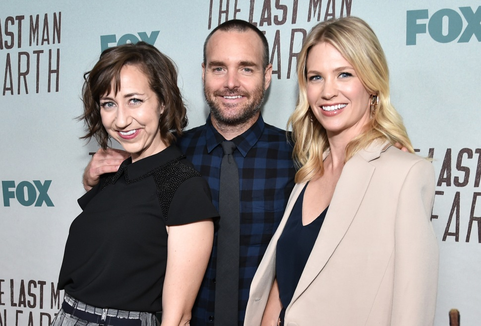 Kristen Schaal, Will Forte and January Jones at Deadline's Last Man on Earth panel.