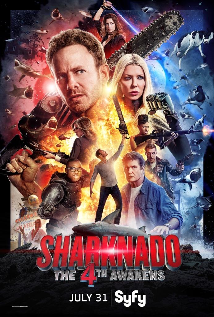 Sharknado The 4th Awakens Key Art poster