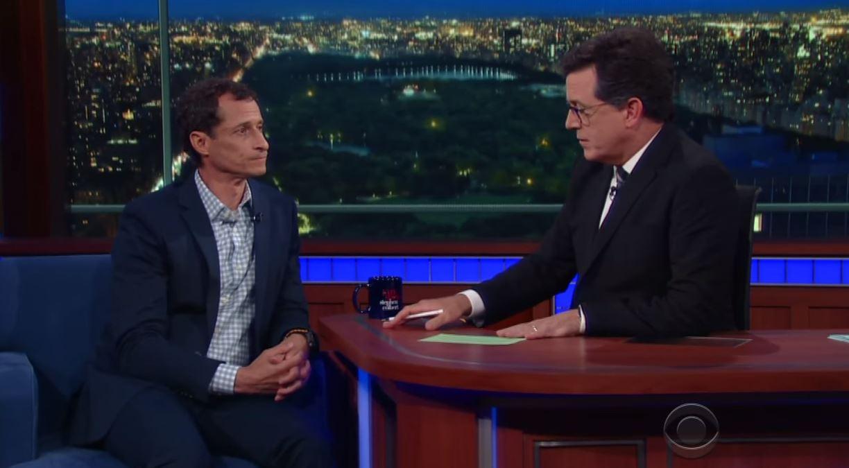 Anthony Weiner Stephen Colbert