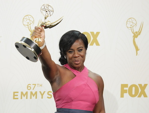 Uzo Aduba 67th Primetime Emmy Awards, Press Room, Los Angeles, America - 20 Sep 2015