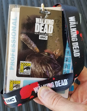 walking dead comic con 2016 pass