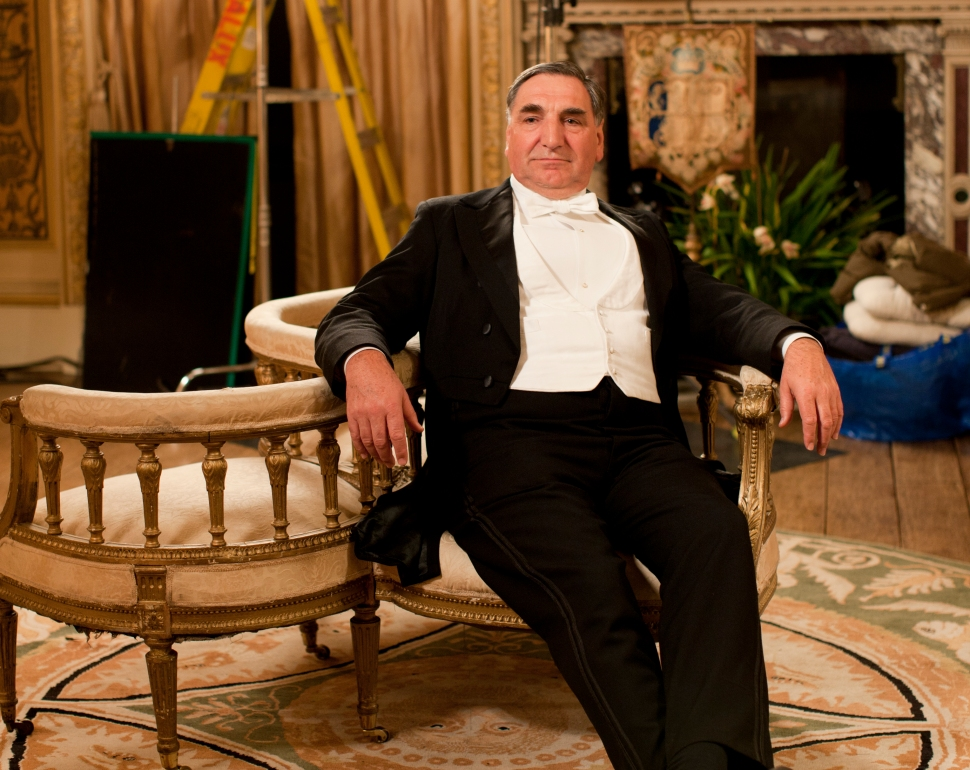 Jim Carter on set for Series 2.