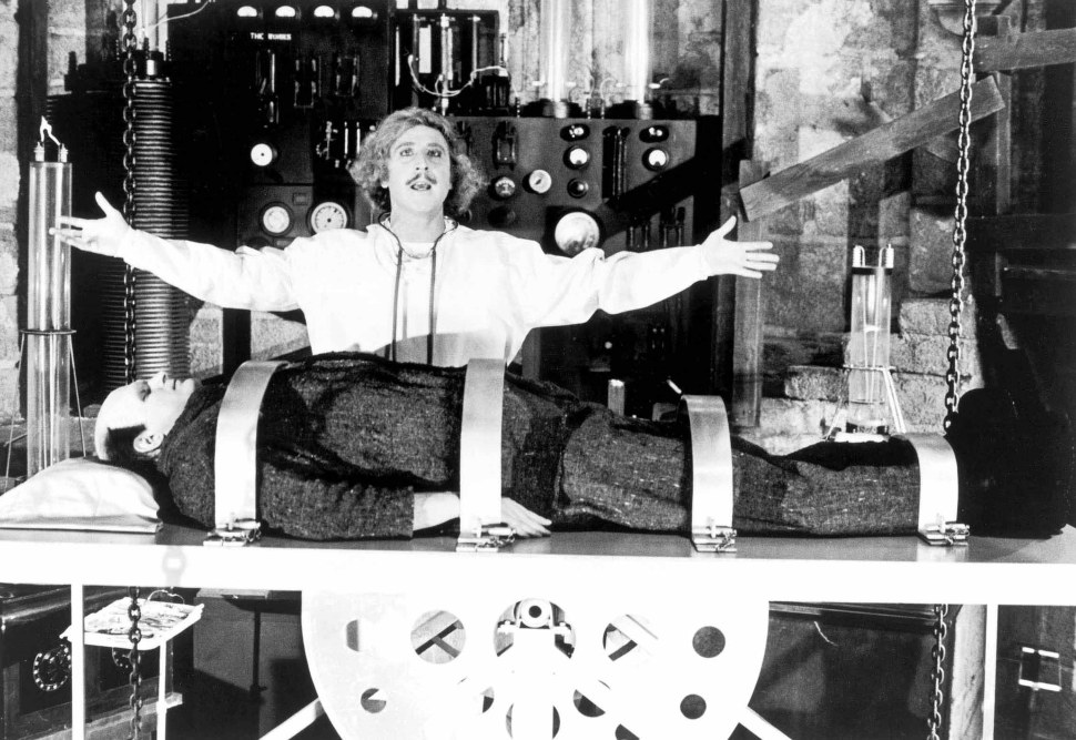 No Merchandising. Editorial Use Only. No Book Cover Usage. Mandatory Credit: Photo by Moviestore/REX/Shutterstock (1631700a) Young Frankenstein, Peter Boyle, Gene Wilder Film and Television