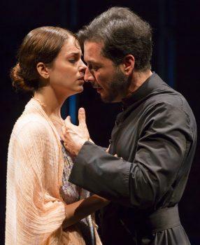 """Hannia Guillen and Raúl Méndez in """"Bathing In Moonlight."""""""