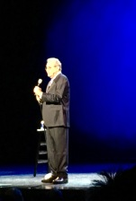 """Lewis Black performing """"Black To The Future"""" Monday night on Broadway."""