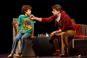 Anthony Rosenthal, left, and Christian Borle in 'Falsettos.'