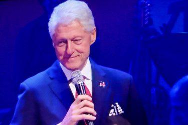 Bill Clinton at Monday night's Clinton fundraiser.