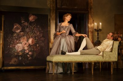 Janet McTeer and Liev Schreiber in 'Les Liaisons Dangereuses' on Broadway.