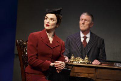 Rachel Weisz and Byron Jennings in 'Plenty' at the Public Theater.