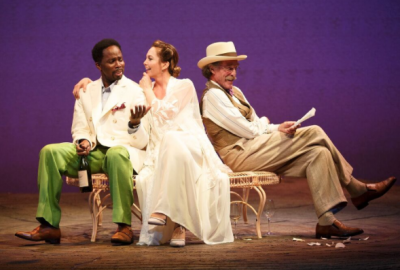 Harold Perrineau, Diane Lane and John Glover in The Cherry Orchard, on Broadway