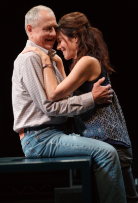 Dennis Arndt and Mary-Louise Parker in Heisenberg on Broadway.