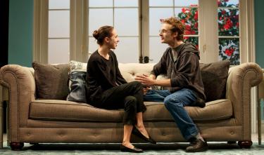 Zoe Kazan and Ben Rosenfield in Love, Love, Love.