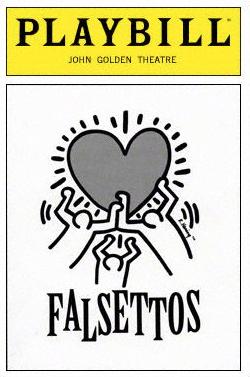 Keith Haring art for the original production of 'Falsettos.'