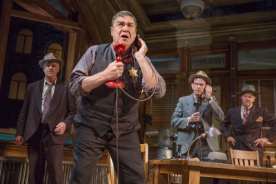 John Goodman in 'The Front page' on Broadway.