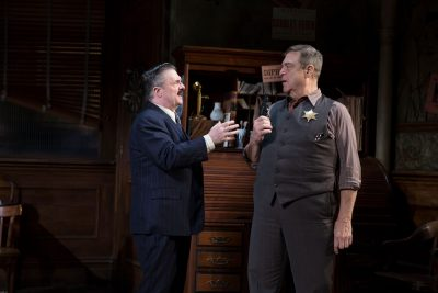 Nathan Lane and John Goodman in 'The Front Page' on Broadway.