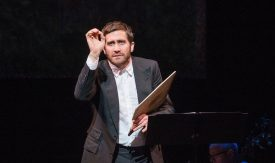 Jake Gyllenhaal in 'Sunday In ThePark With George' at new York City Center.