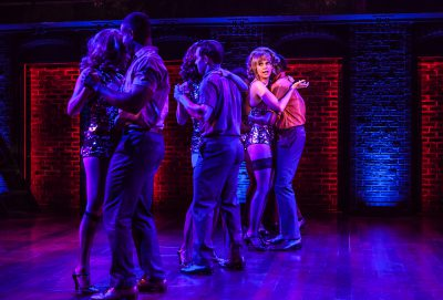 Sutton Foster and the company of 'Sweet Charity.'