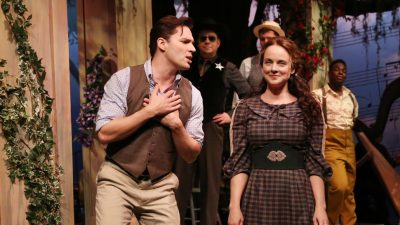 "Ryan Silverman and Melissa Errico in ""Finian's Rainbow."""