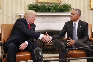 Obama Trump, Washington, USA - 10 Nov 2016